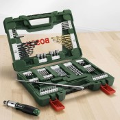 Bosch 91-teiliges V-Line Titanium-Set - geöffnet